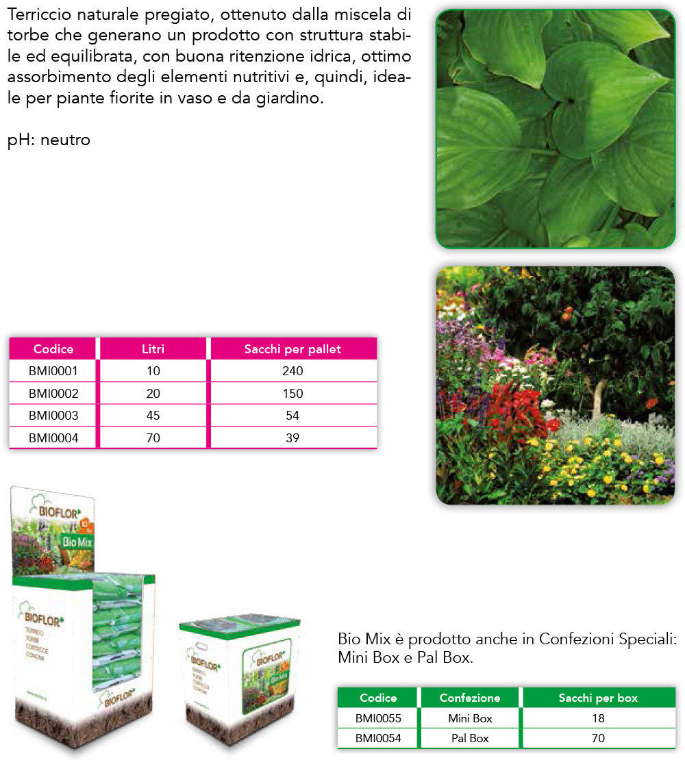 Bioflor s n c produzione e commercializzazione di - Terriccio fertile ...